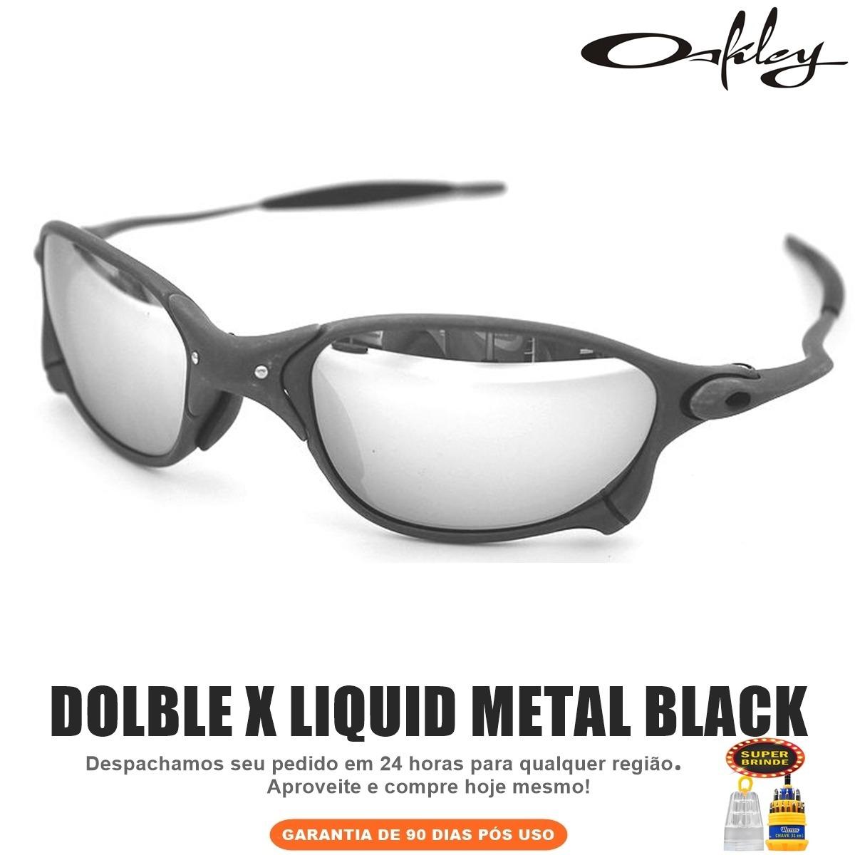 0eec4cc02a94b óculos oakley dolble xx liquid metal prata + frete grátis. Carregando zoom.