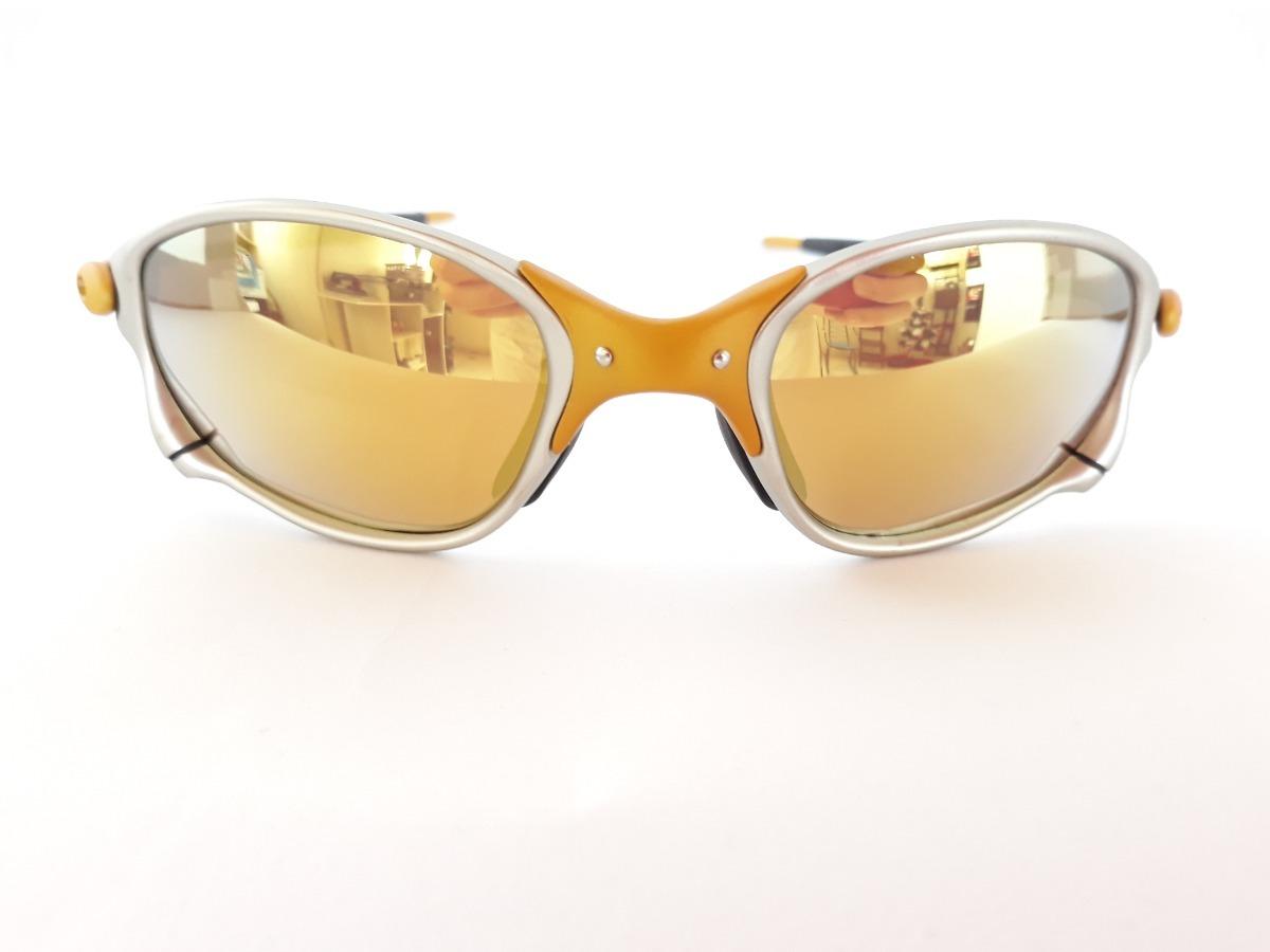 cbe7bde16bc21 óculos oakley double x 24k lentes gold polarizada frete free. Carregando  zoom.