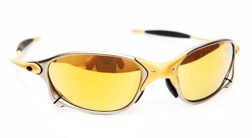 3d60e8f31bfc7 Oculos Oakley Double Xx 24k Gold Iridium Original + Brinde - R ...