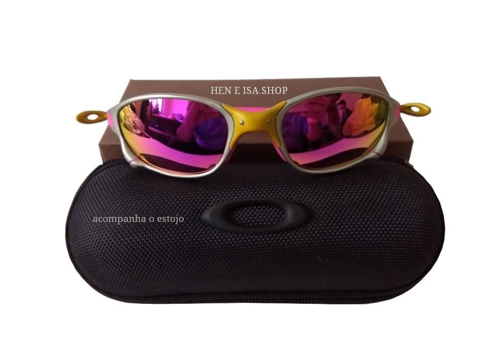 719a55dbba62f Oculos Oakley Double Xx 24k Rosa +estojo+teste+lenço Limpeza - R  95 ...