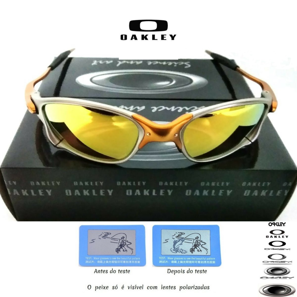 ef7ad3f7184ab Óculos Oakley Double Xx 24k Squared Rubi Juliet Promoção - R  120,00 ...