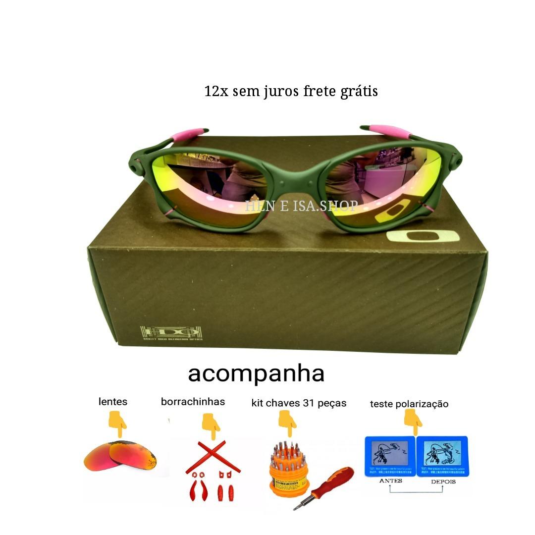 5e16718d6 Oculos Oakley Double Xx Rosa +lentes Teste - R$ 140,00 em Mercado Livre