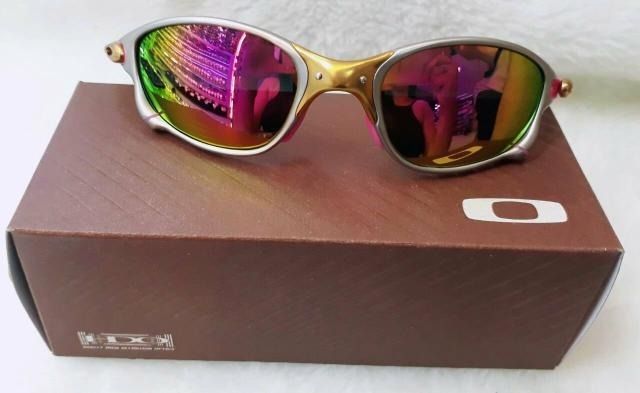 Óculos Oakley Double Xx X-metal Pink Borrachas Rosa Top Top - R  121 ... 22387b63b8