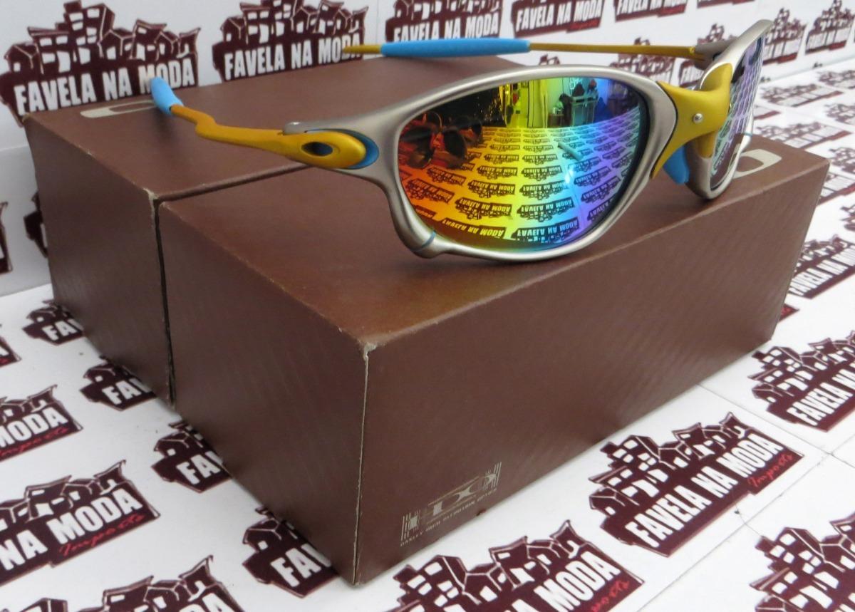 3289e5eed4190 óculos oakley doublexx   24k   arco íris + par de lentes. Carregando zoom.