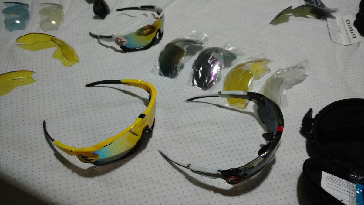 6379b02c608fc óculos oakley esportivo ciclismo jawbreaker 4 lentes + case. Carregando  zoom.