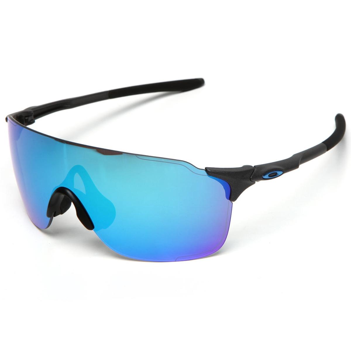 69c245b662f1b óculos oakley evzero stride steel  lente sapphire iridium. Carregando zoom.