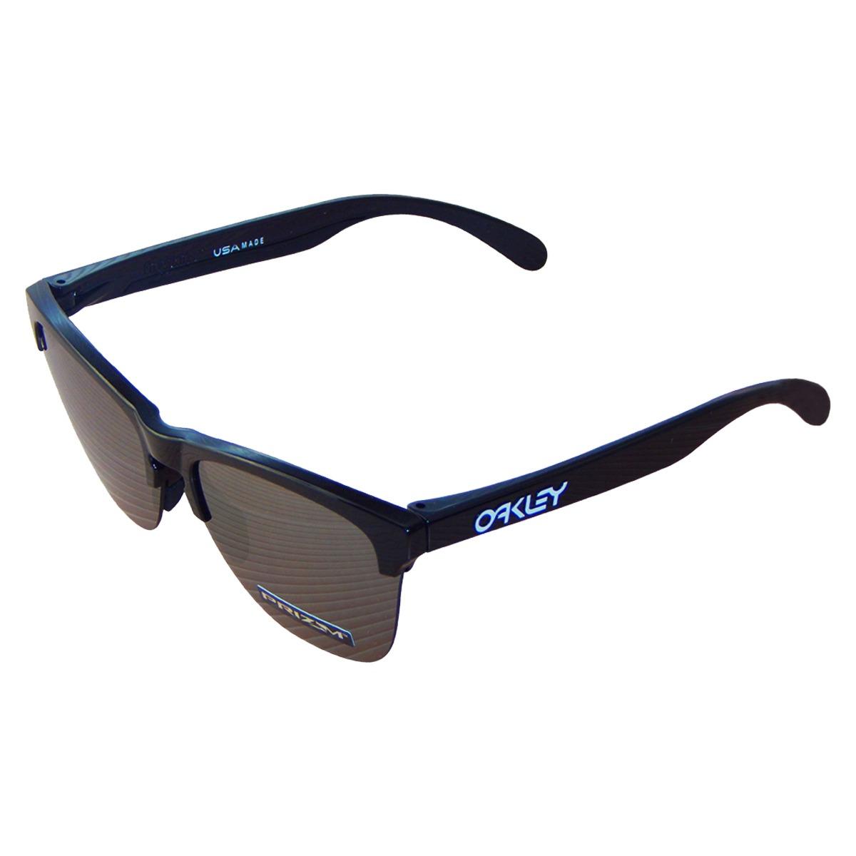 Óculos Oakley Frogskins Lite Polished Black  Lente Prizm Bla - R ... 80a7c71762