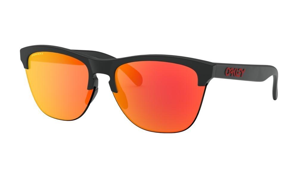 5803c181b óculos oakley frogskins lite matte black lente prizm ruby. Carregando zoom.