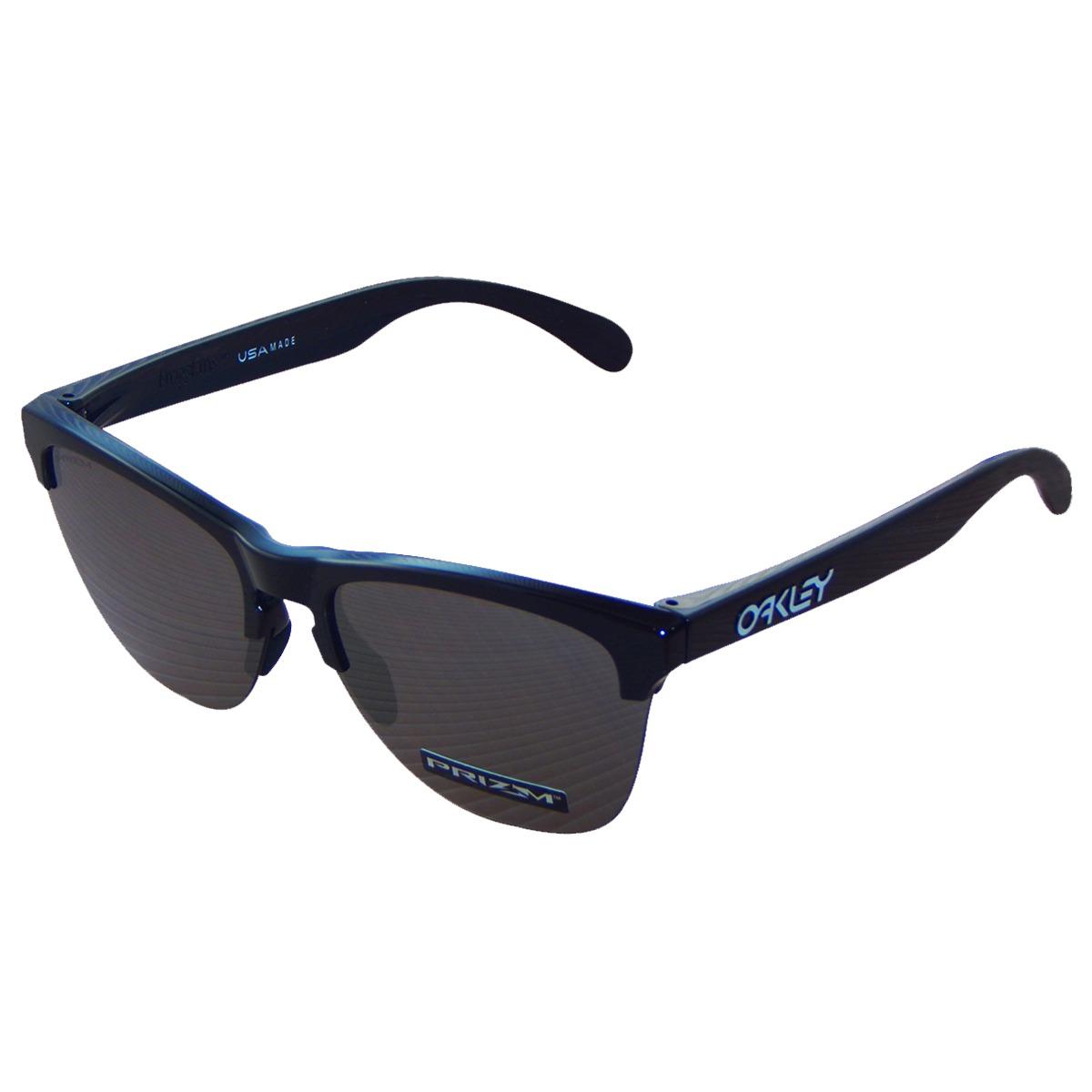 óculos oakley frogskins lite polished black  lente prizm bla. Carregando  zoom. 932111c417
