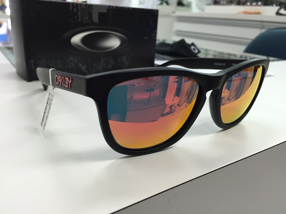 52fd19d815559 oculos oakley frogskins lx oo2043-02 matte black w ruby irid. Carregando  zoom.
