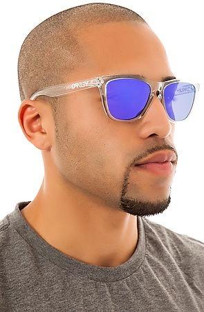 Oculos Oakley Frogskins Polished Clear Violet Frete Gratis - R  469 ... 948ebc712d