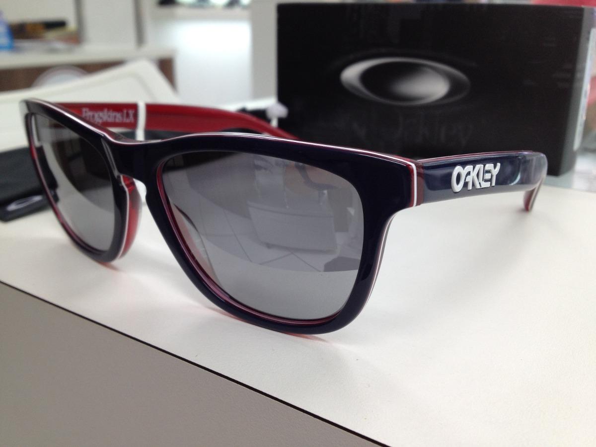 a6390f7f61d76 Oculos Oakley Frogskins.lx 002043-05 Navy W  Chrome Original - R ...