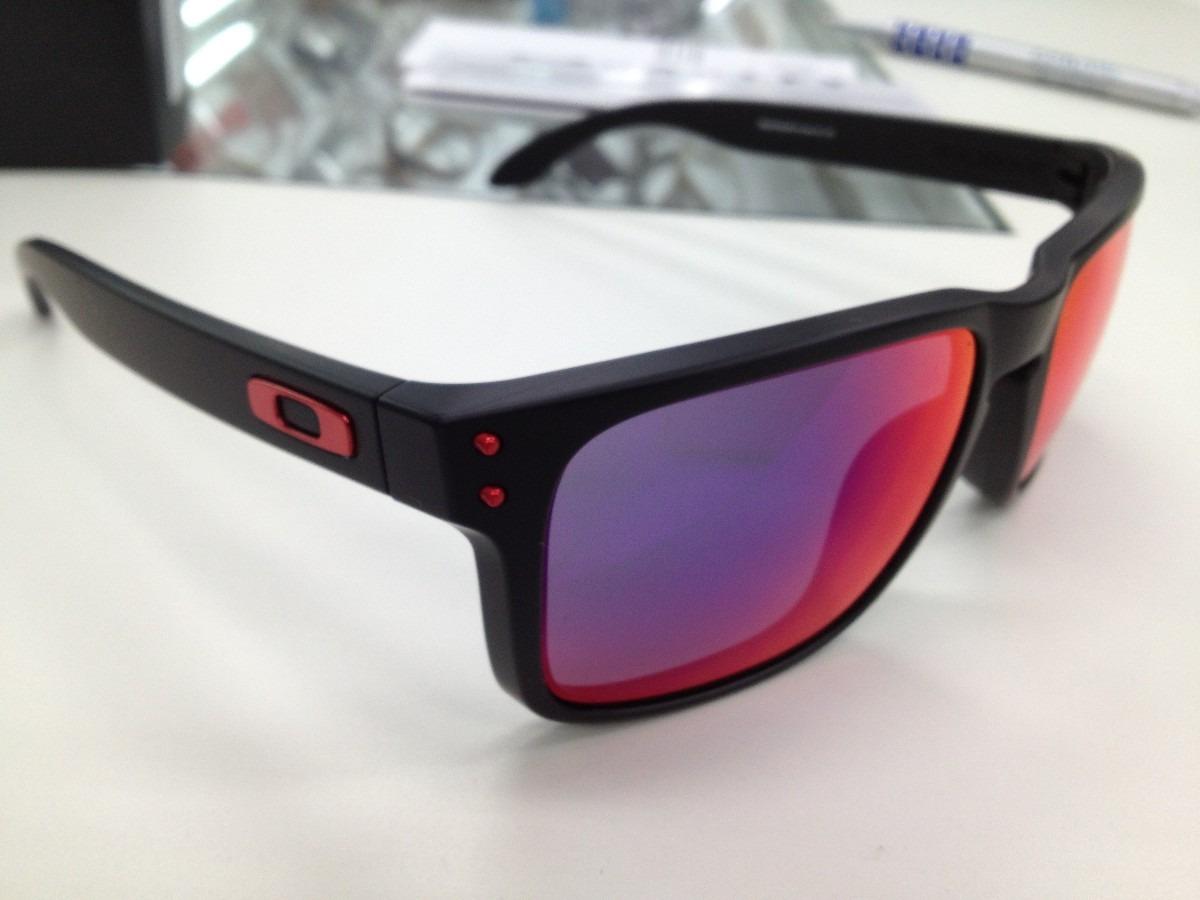 72690314495a4 oculos oakley holbrook 009102l-36 matte black l .red iridium. Carregando  zoom.