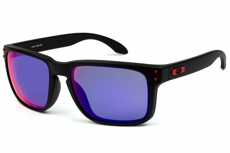 Oculos Oakley Holbrook 009102l-36 Matte Black L .red Iridium - R ... 414090ad08