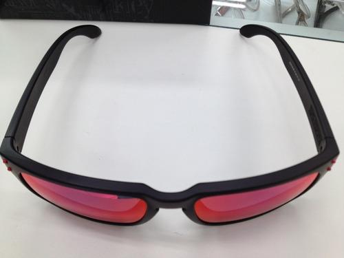 oculos oakley holbrook 009102l-36 matte black l .red iridium. Carregando  zoom... oculos oakley holbrook 4b0e02945e