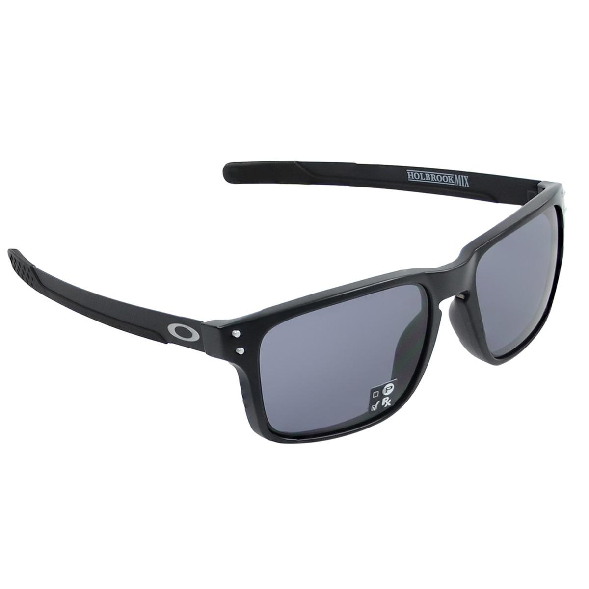 48d0c2257d2e4 Óculos Oakley Holbrook Mix Matte Black  Lente Grey - R  569