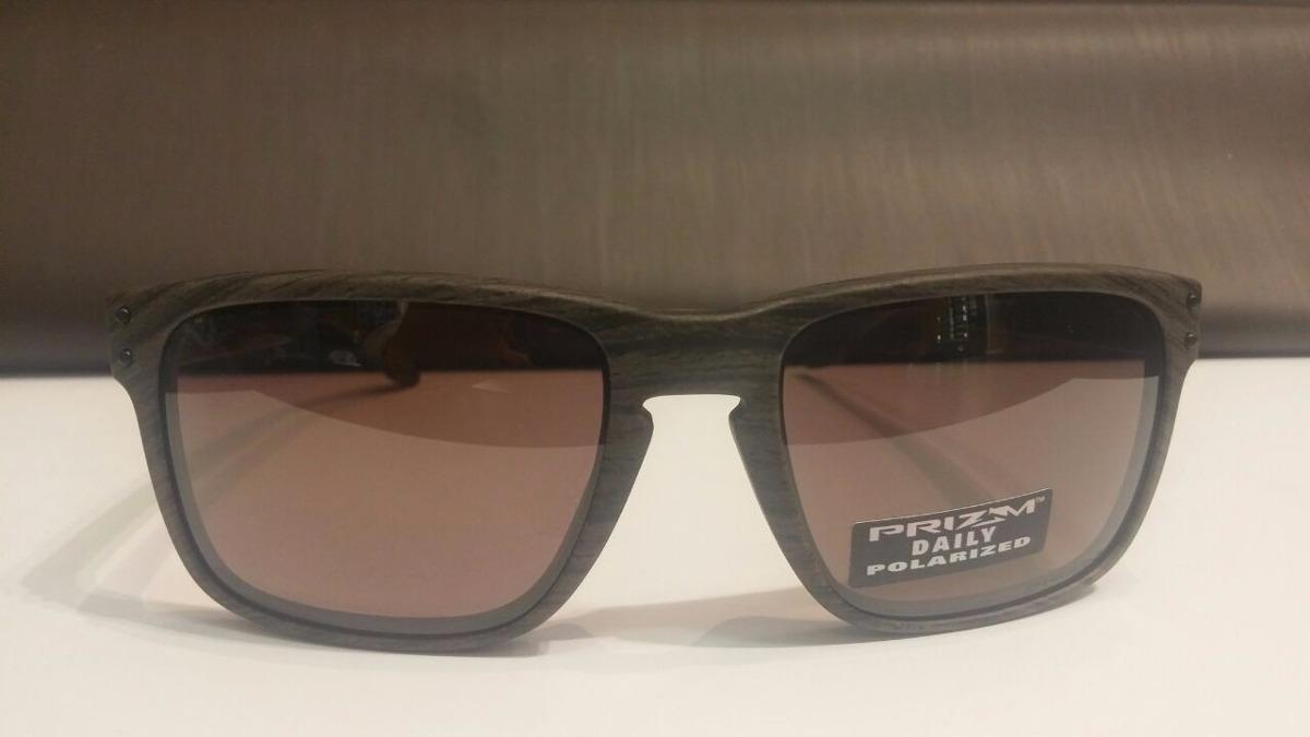 3c33243f22bc6 Óculos Oakley Holbrook Woodgrain Amadeirado Prizm Polarizado - R ...