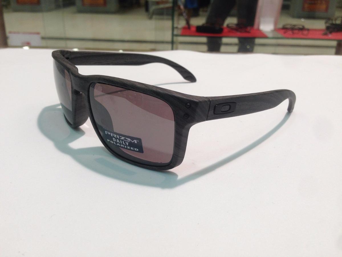 Oculos Oakley Holbrook Oo9102-b7 Woodgrain Prizm Original - R  529 ... bd5544e4a8