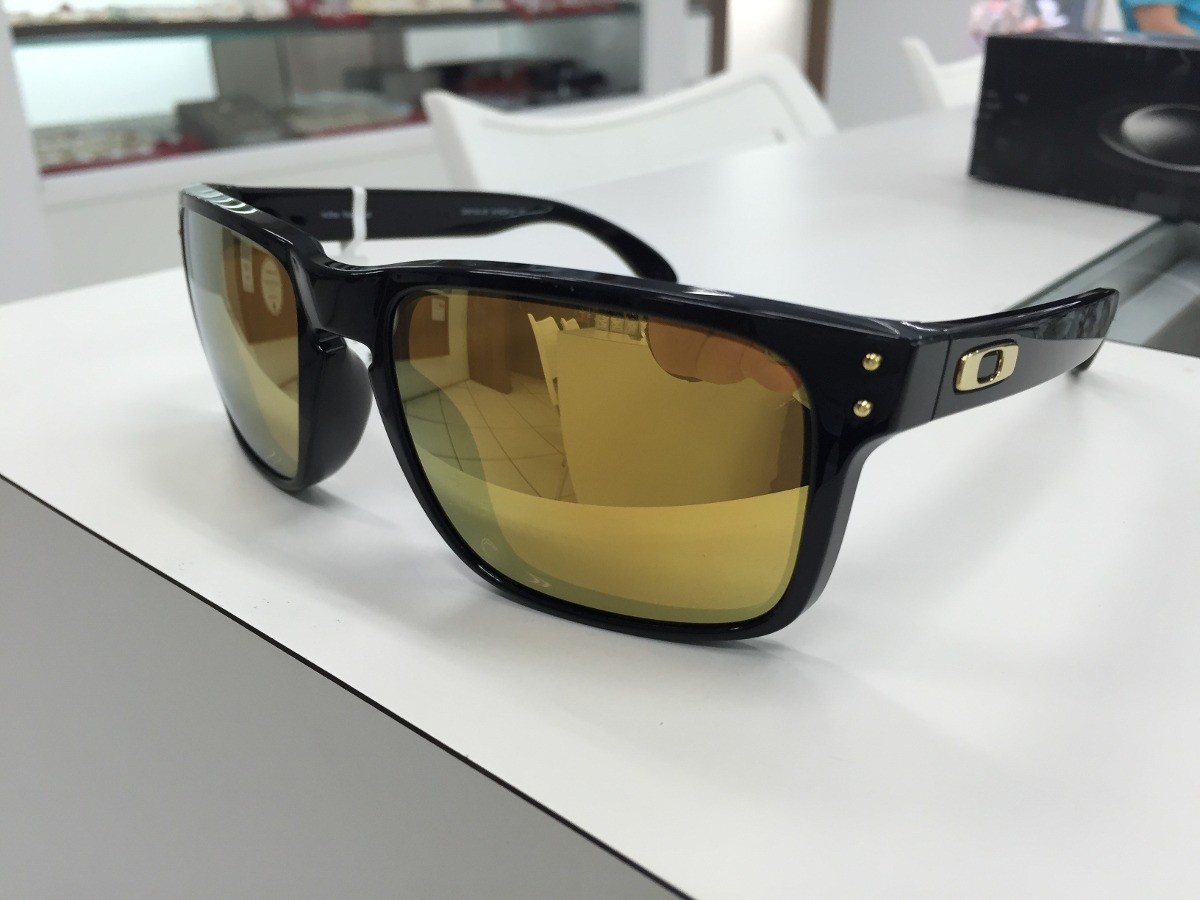 36a849f73f865 Oculos Solar Oakley Holbrook 009102-08 Preto Brilho W 24k - R  399 ...