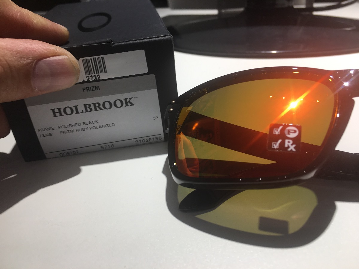 7eced21804b8b Oculos Oakley Holbrook Black Prizm Polarizado Oo9102original - R ...