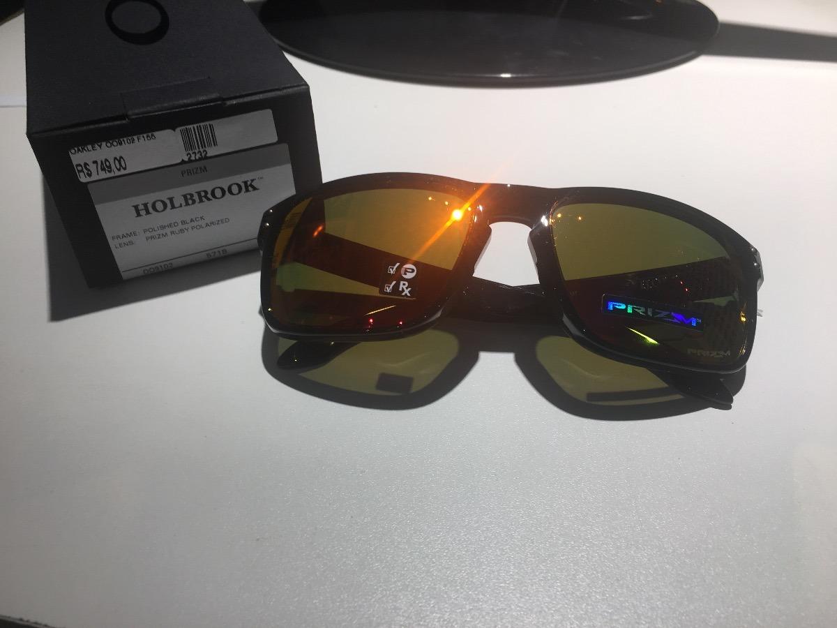 4a88ed320b90f oculos oakley holbrook black prizm polarizado oo9102original. Carregando  zoom.