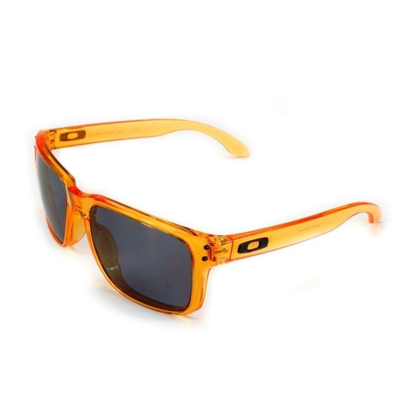 f117c6e8fdcf9 óculos oakley holbrook crystal orange grey 9102-31. Carregando zoom.