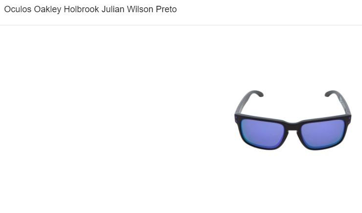 4940a235edfae Óculos Oakley Holbrook Julian Wilson Preto - R  320,00 em Mercado Livre
