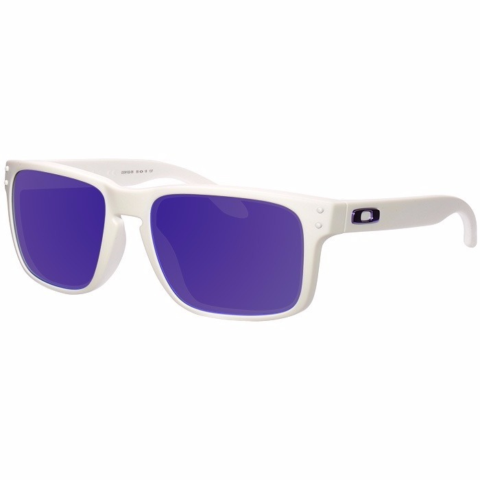 fcf38a56e8a3f Oculos Oakley Holbrook Matte White   Violet Iridium - 910205 - R ...