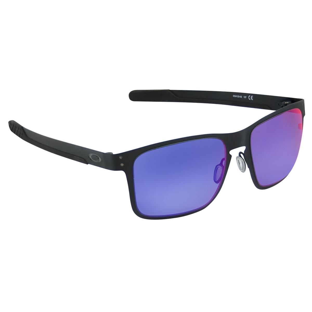 c0144f10fe1f3 óculos oakley holbrook metal fosco espelhado preto. Carregando zoom.