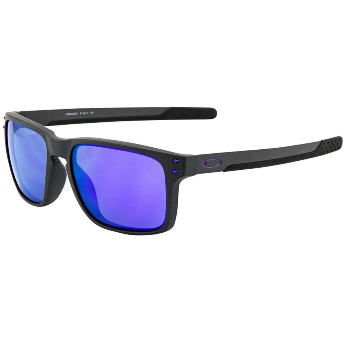 óculos oakley holbrook mix steel  lente violet iridium. Carregando zoom. 2026912e68