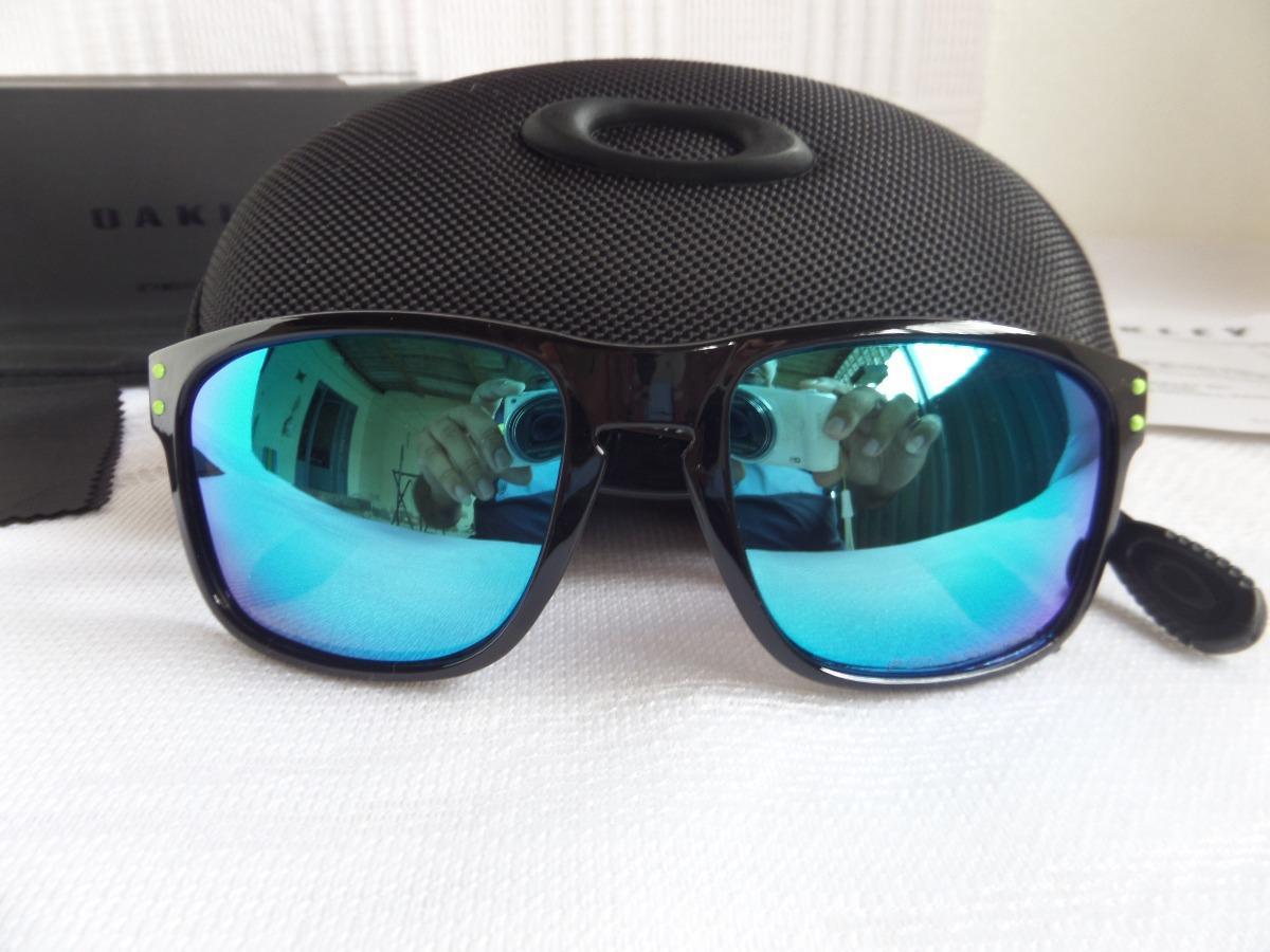7e289359a73f4 Óculos Oakley Holbrook Moto Gp Preto Polido verde Polarizado - R ...