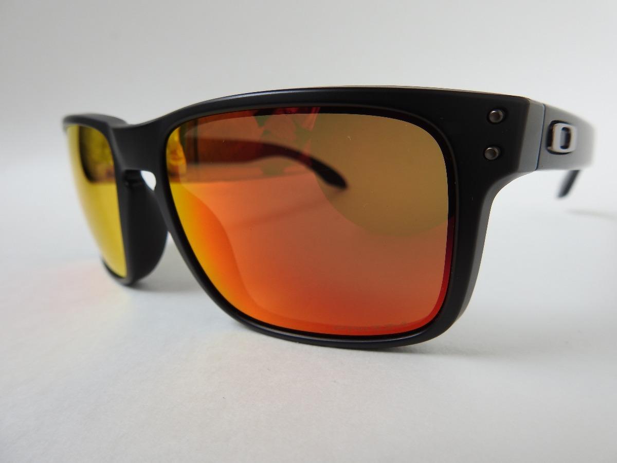 oculos oakley holbrook oo9102-e255- matte black prizm ruby. Carregando zoom. f73f1a2c91