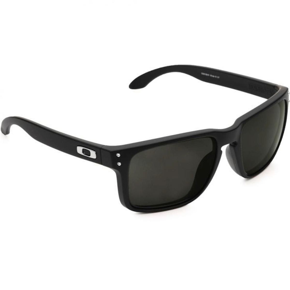 81ff4628d oculos oakley holbrook preto black logo prata polarizado uv. Carregando  zoom.