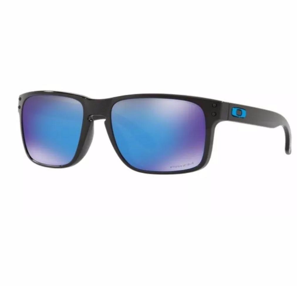 f2580a9e7 oculos oakley holbrook preto prata azul espelhado amarelo. Carregando zoom.