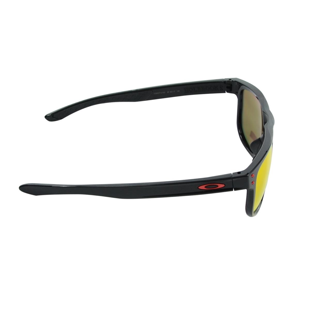 cf65ac6fc óculos De Sol Estilo Oakley Holbrook Armação Preta Com Lente Laranja ...