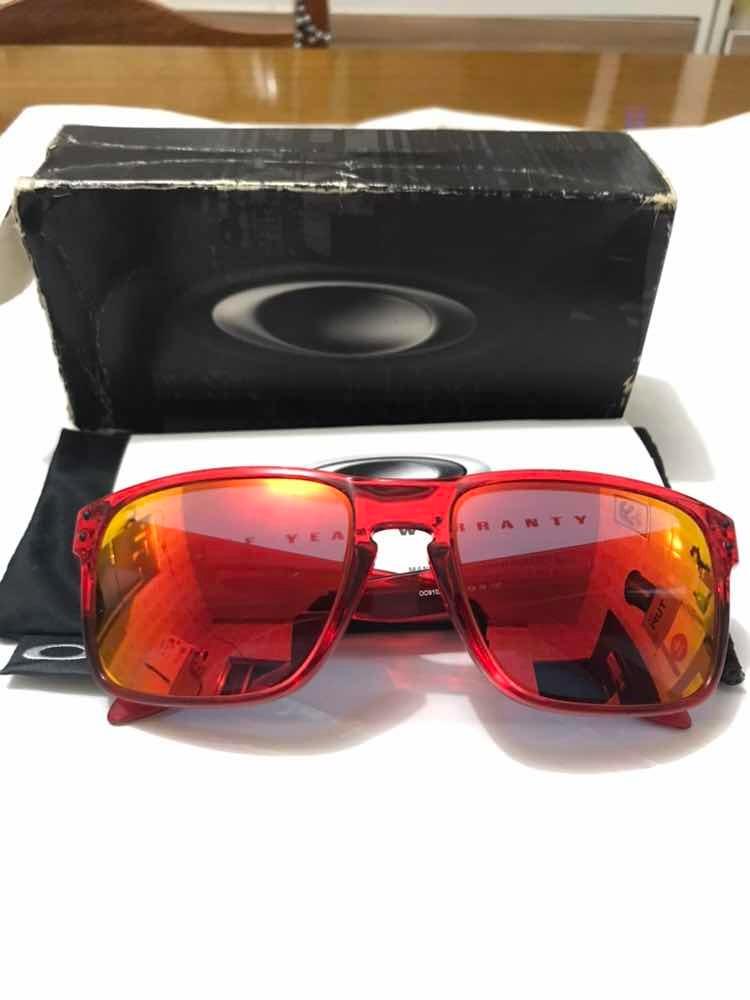 19bd6575ed0d8 óculos oakley holbrook ruby (crystal red ruby iridium). Carregando zoom.
