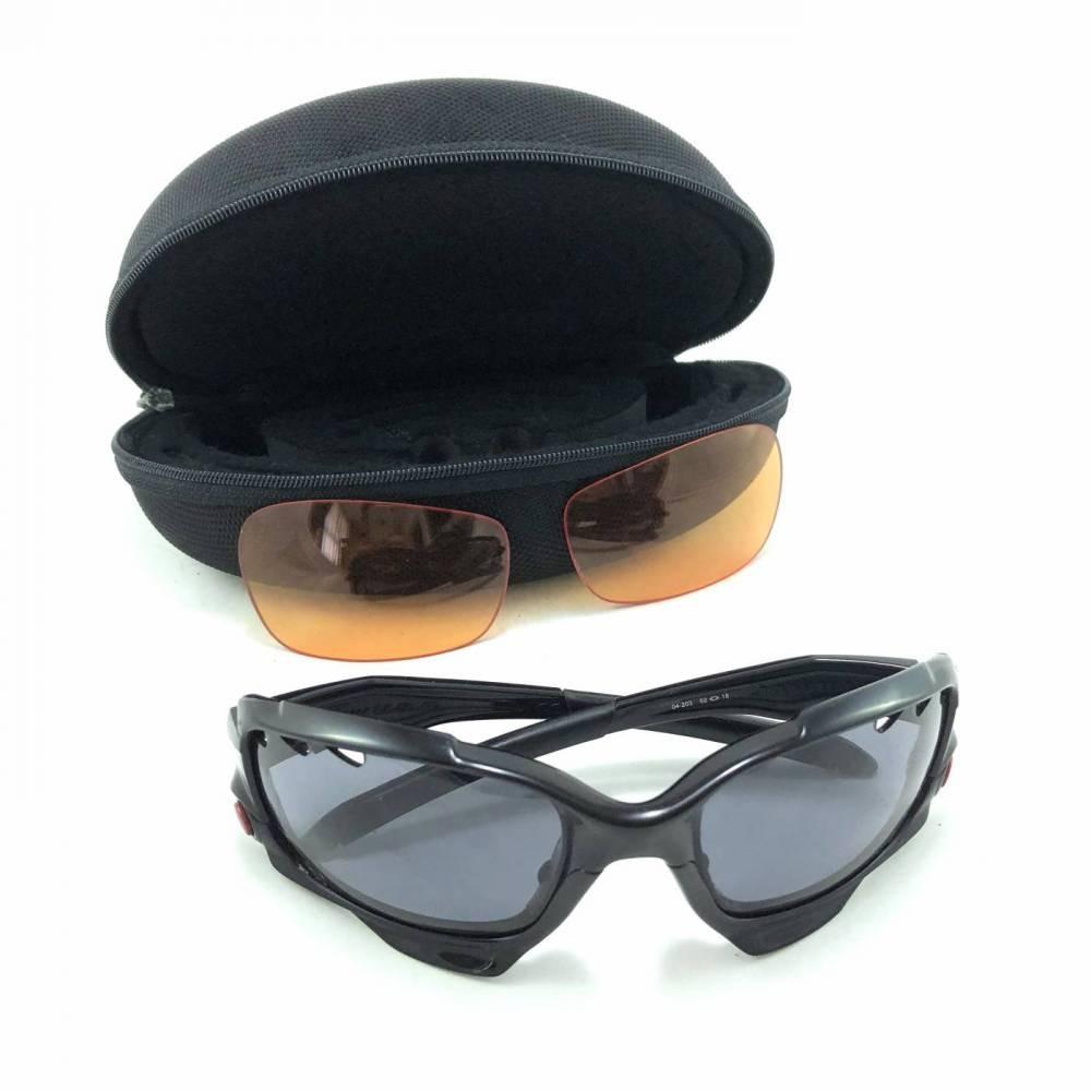 b6dc6ffffdba2 óculos oakley jawbone preto com par de lentes extra. Carregando zoom.