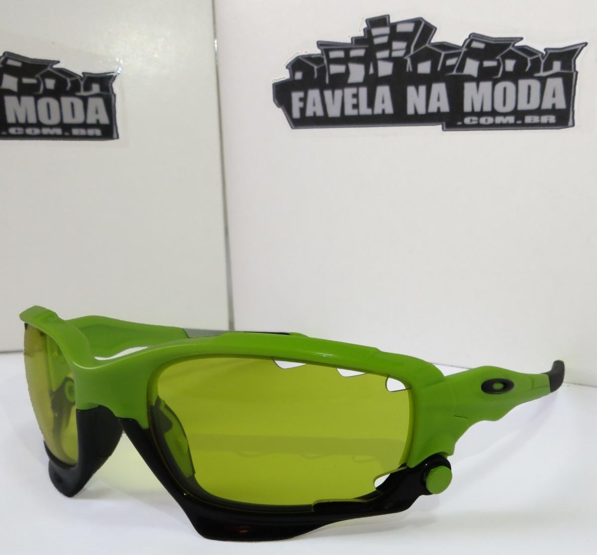 bfcc6a743cfbf óculos oakley jawbone (verde preto)+ 2 pares de lentes +. Carregando zoom.