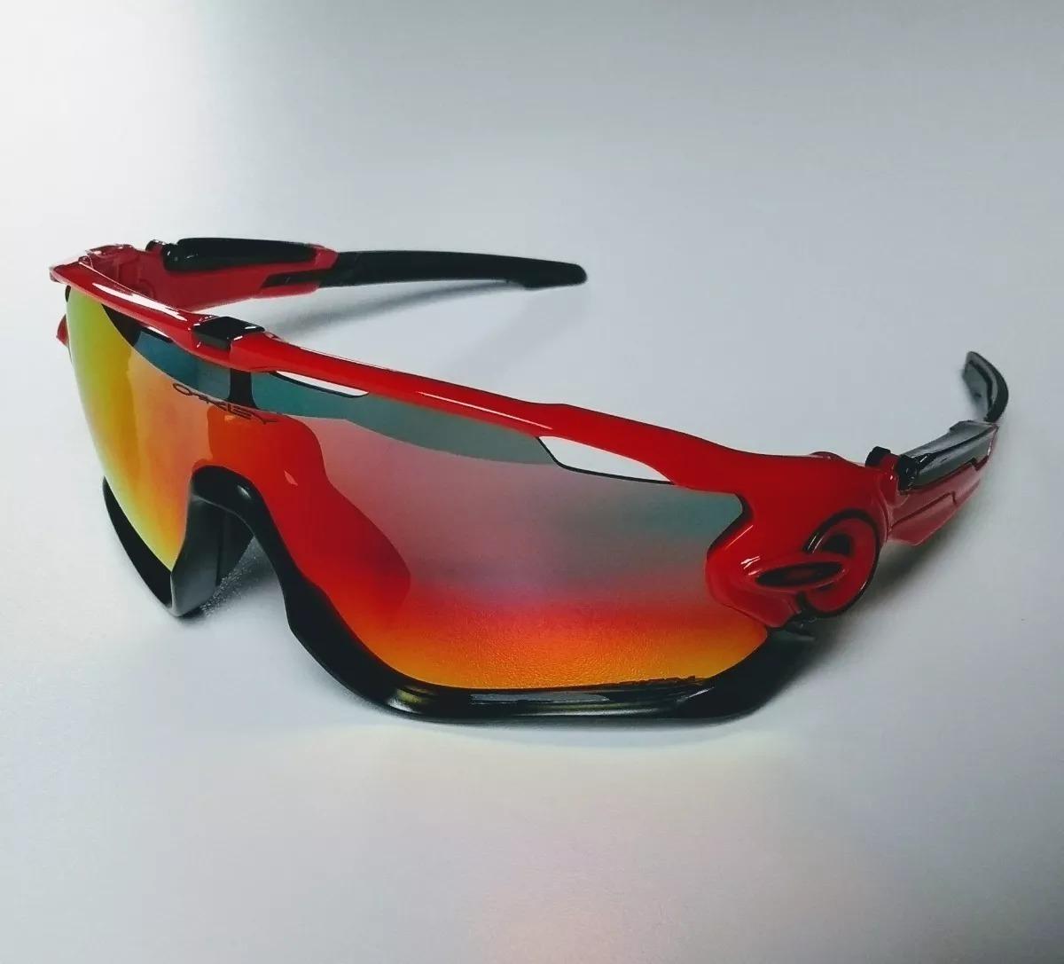 812cc71dc Óculos Oakley Jawbreaker Ciclismo 3 Lentes - R$ 180,00 em Mercado Livre