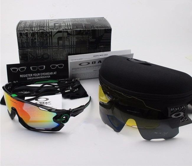 7ddbf0ea5 Óculos Oakley Jawbreaker Mark Cavendish 3 Lentes Tr90 - R$ 269,00 em ...