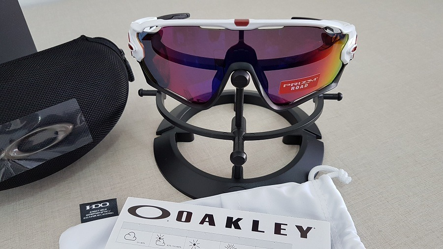 fb54e44d31ca0 óculos oakley jawbreaker oo9290 polished white prizm road. Carregando zoom.