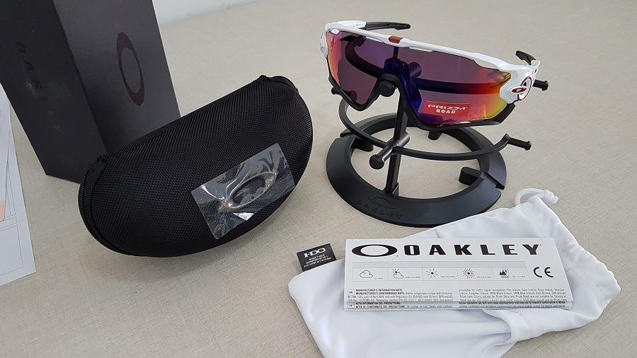 64157d2beeae1 óculos oakley jawbreaker oo9290 polished white prizm road. Carregando zoom.