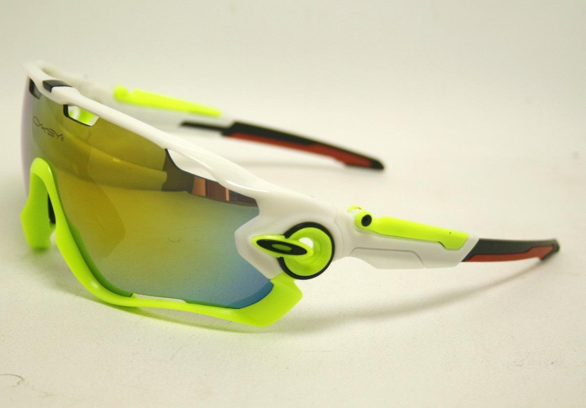 óculos oakley jawbreaker polarizado 5 lentes verde branco. Carregando zoom. 07ef89c28c