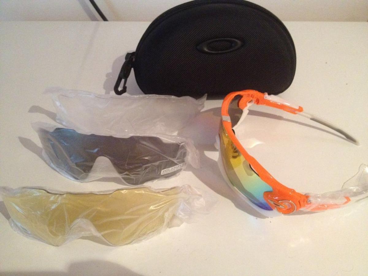 9a19b912ad35e óculos oakley jawbreaker prizm - 4 lentes   com estojo. Carregando zoom.