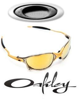 Óculos Oakley Juliet 100% 24k Polarizado Dourado Promoção - R  119 ... 1ab2a5e833