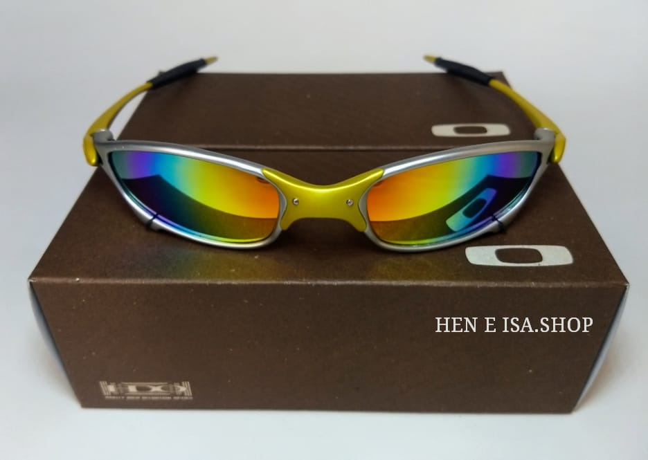 oculos oakley juliet 24k arco iris +teste+flanela. Carregando zoom. 247c102ef9a