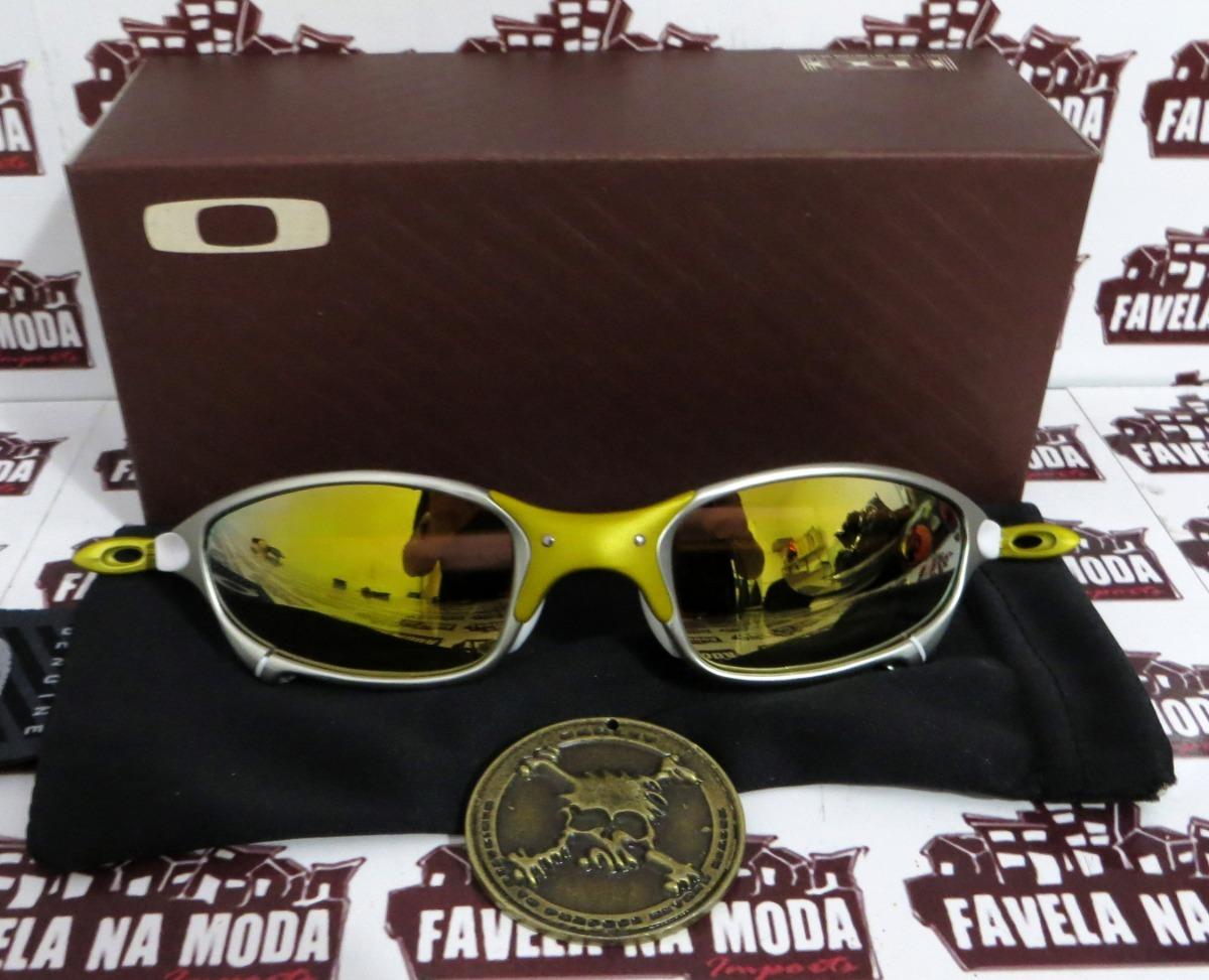 43a8d52a0f780 óculos oakley juliet   24k   gold   branca + par de lentes. Carregando zoom.