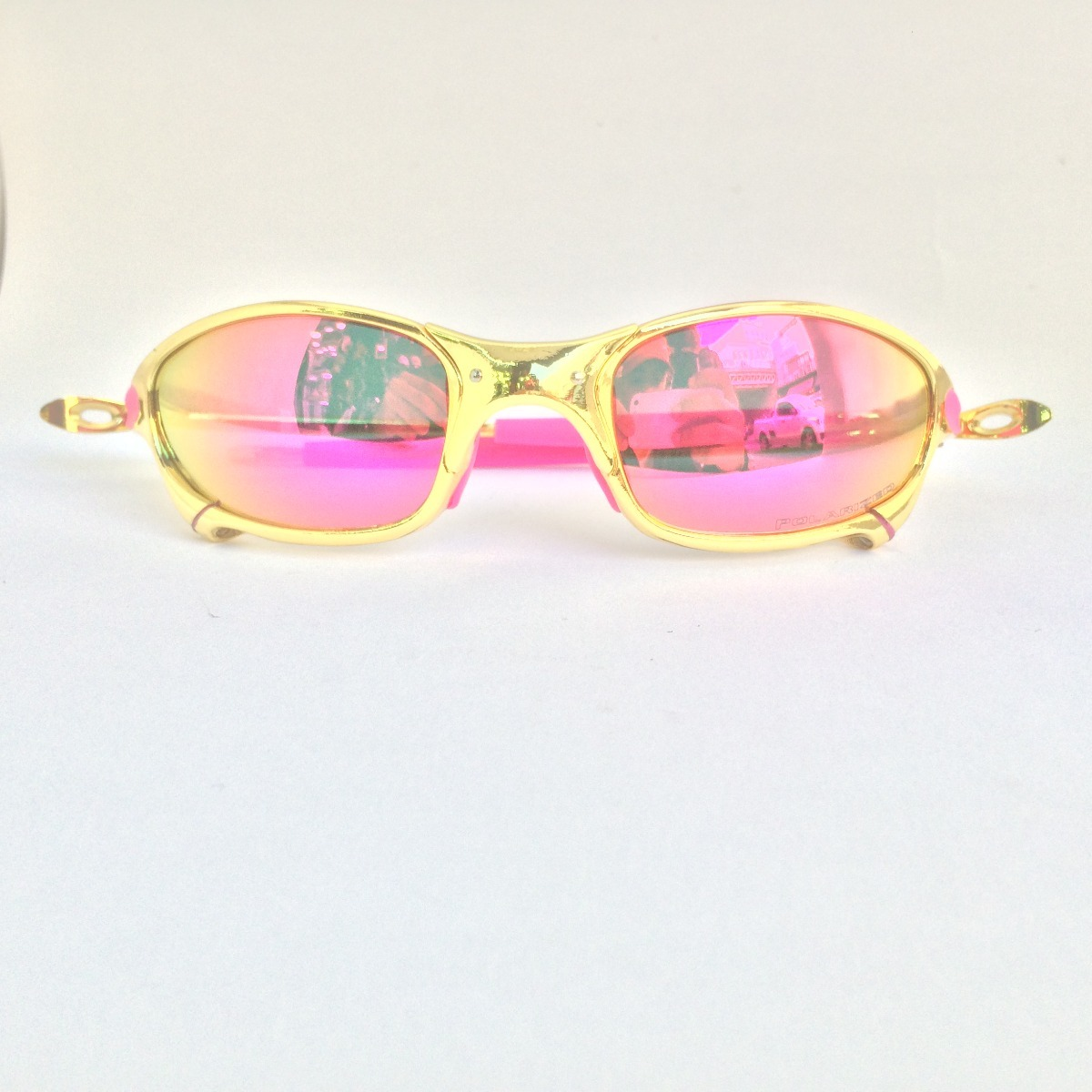 6c2b680b03e37 oculos oakley juliet 24k pink + cromado frete grátis. Carregando zoom.
