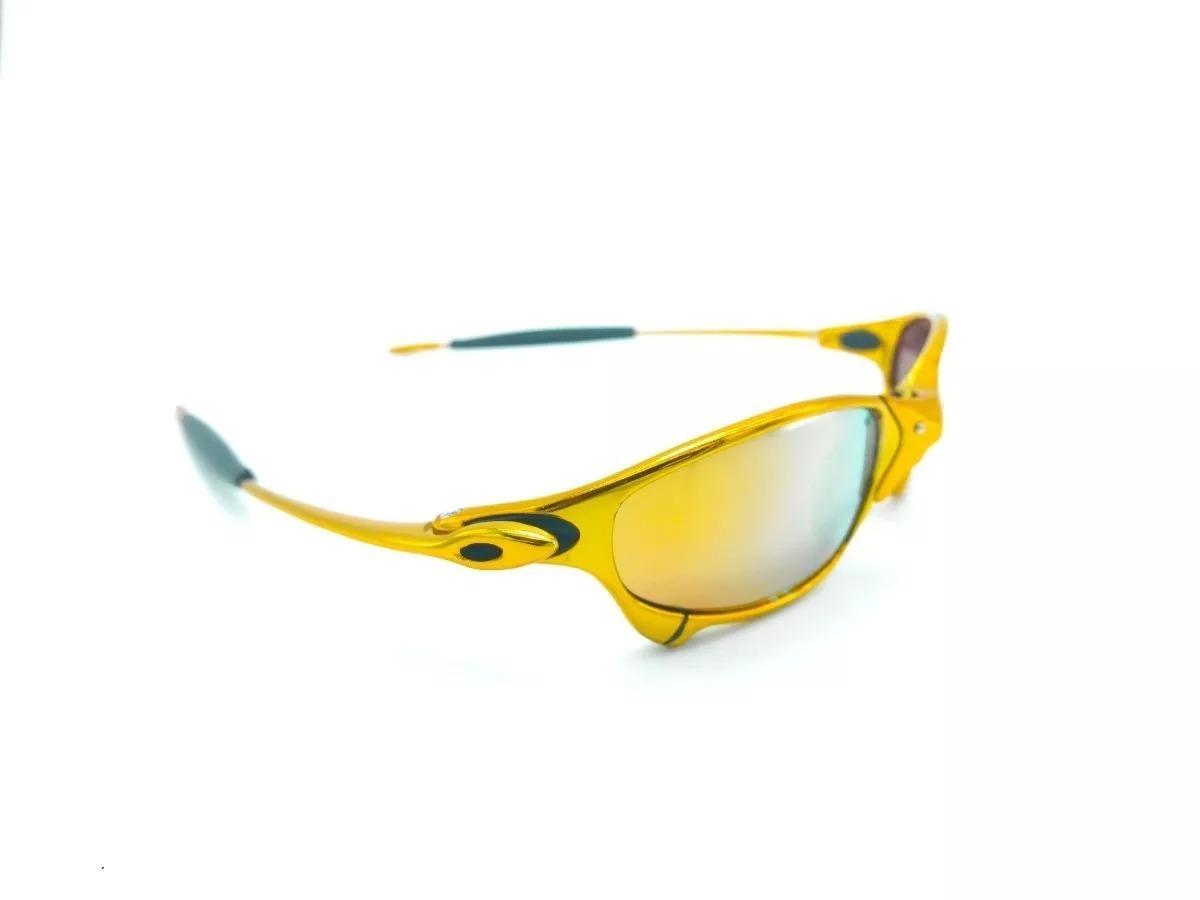 c7a0f56d4 óculos oakley juliet 24k squared penny romeo double x!!! Carregando zoom.