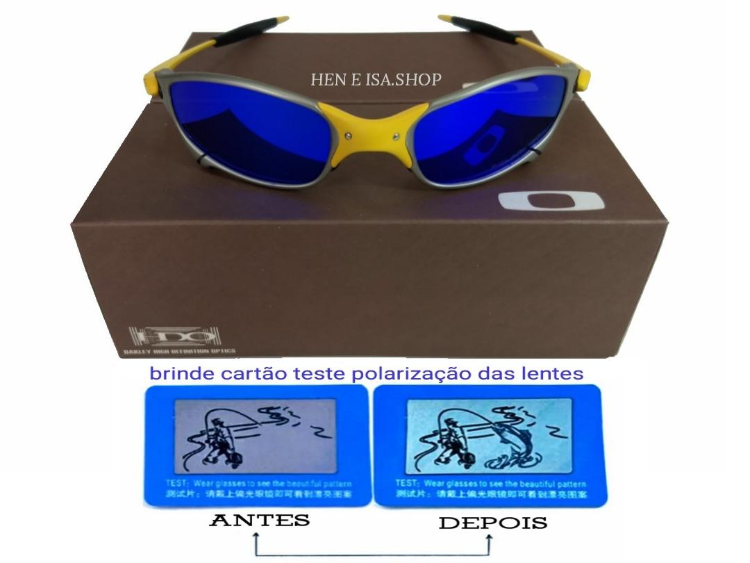 oculos oakley juliet 24k x-metal lente azul aco inox 12x sj. Carregando  zoom. 4cea4dcbeb